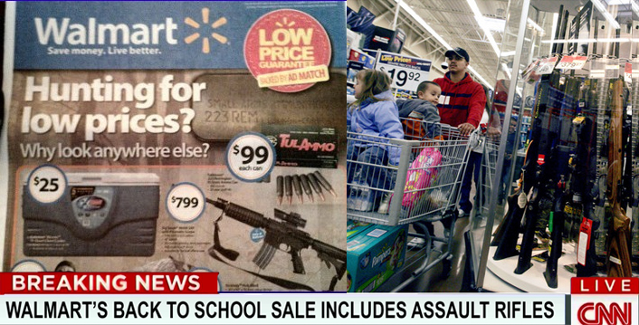 Walmart's Back To School Sale Includes Assault Rifles